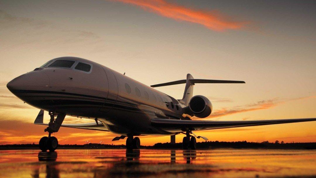 Recebemos uma visita do avião executivo Gulfstream G650!